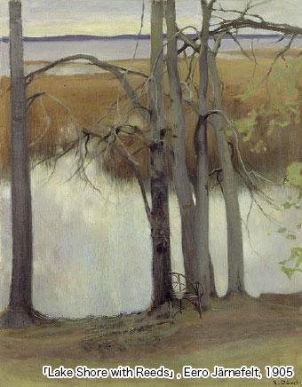 「Lake Shore with Reeds」 , Eero Järnefelt, 1905
