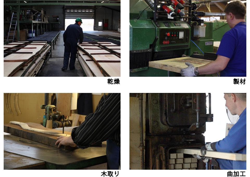 乾燥・製材・木取り・曲加工
