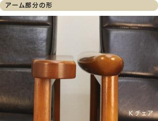 Kチェア:アーム部分の形